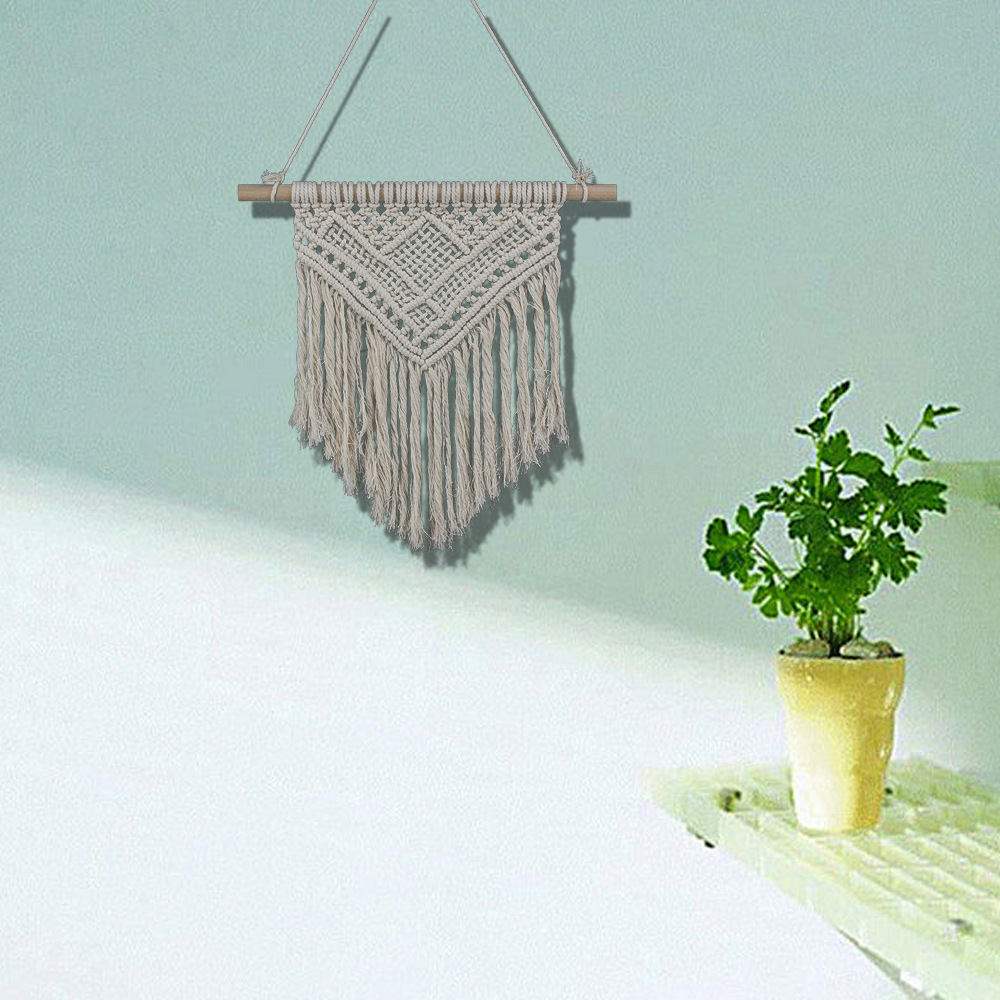 Macrame Wall Hanging Nordic Macrame Cotton Tapestry Large  Tapestry Bedroom Home Party Wedding Decoration Gift For Women Men
