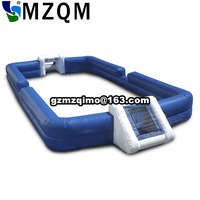 free air shipping Inflatable soap football field, big soccer field court, giant inflatable water football soccer goal sport game