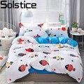 Solstice текстильные постельные принадлежности для дома комплекты мультфильм простой пододеяльник наволочка простыня детская для мальчиков-п...