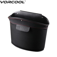 VORCOOL Car Garbage Trash Can Classic Leather Waste Basket Rubbish   Storage   Bin For   Home     Office