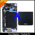 Track No.+ 100% tested original For Samsung Galaxy note 3 n900A/N900t LCD  Digitizer Assembly with frame - White/Grey