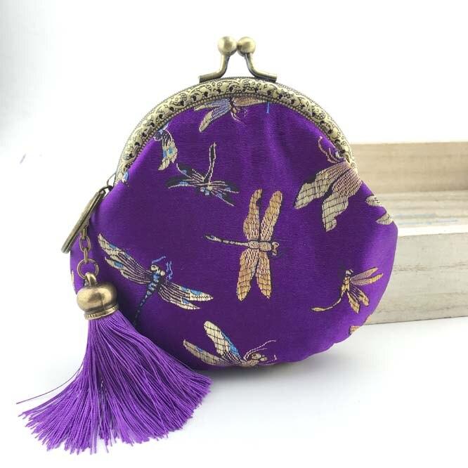 10.5cm Cotton Fabric Purse Metal Frame Bag Material Kit Handmade Purse Coin bags Handmade Sewing Girls Wallet Bags Lady Purse