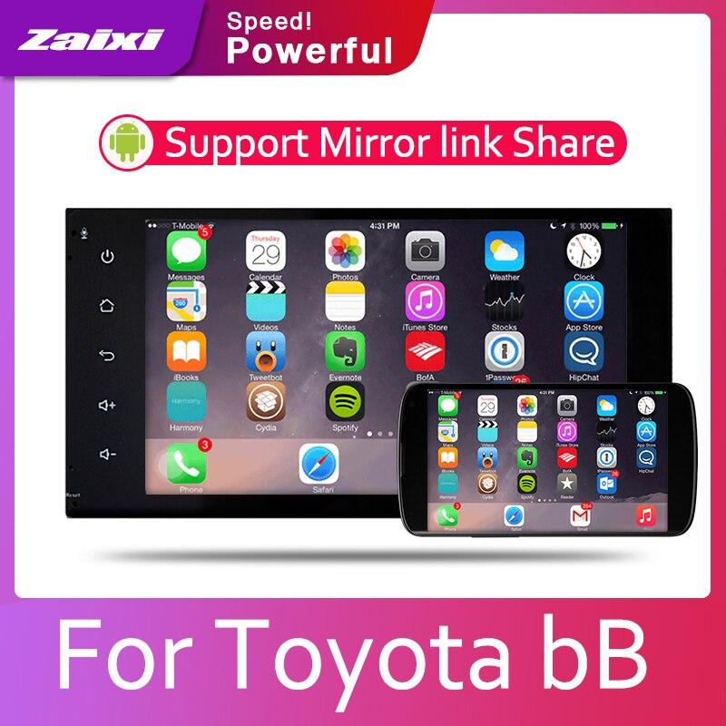 ZaiXi 2din Car multimedia Android Autoradio Car Radio GPS player For Toyota bB 2000 2005 Bluetooth WiFi Mirror link Navi in Car Multimedia Player from Automobiles Motorcycles