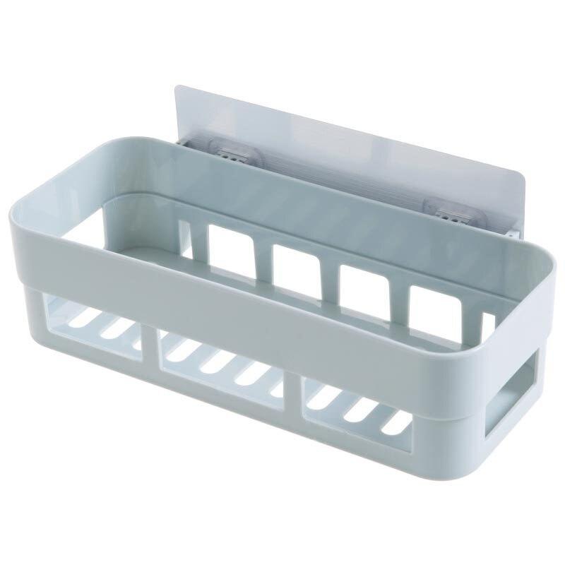 Comprar Baño montado en la pared estante no perforada pared tocador estante rack de almacenamiento accesorios de baño set de Estantes del cuarto de baño fiable proveedores en AMPA Store