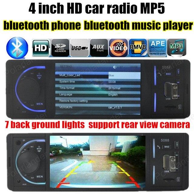Стерео Радио MP4 Плеер 4 дюймов HD TFT 12 В автомобиль Аудио-Видео MP5 FM/USB/TF/поддержка камеры заднего вида bluetooth hands бесплатно