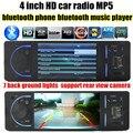 Rádio Estéreo do carro MP4 Player 4 polegada TFT HD 12 V Vídeo e Áudio do carro MP5 FM/USB/TF/suporte câmera traseira bluetooth mãos livre