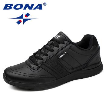 BONA nowy popularny styl mężczyźni obuwie zasznurować wygodne buty mężczyźni miękka lekka podeszwa Hombre darmowa wysyłka tanie i dobre opinie Dla dorosłych Przypadkowi buty Stałe Mikrofibra Lace-up 83259 RUBBER Pasuje prawda na wymiar weź swój normalny rozmiar