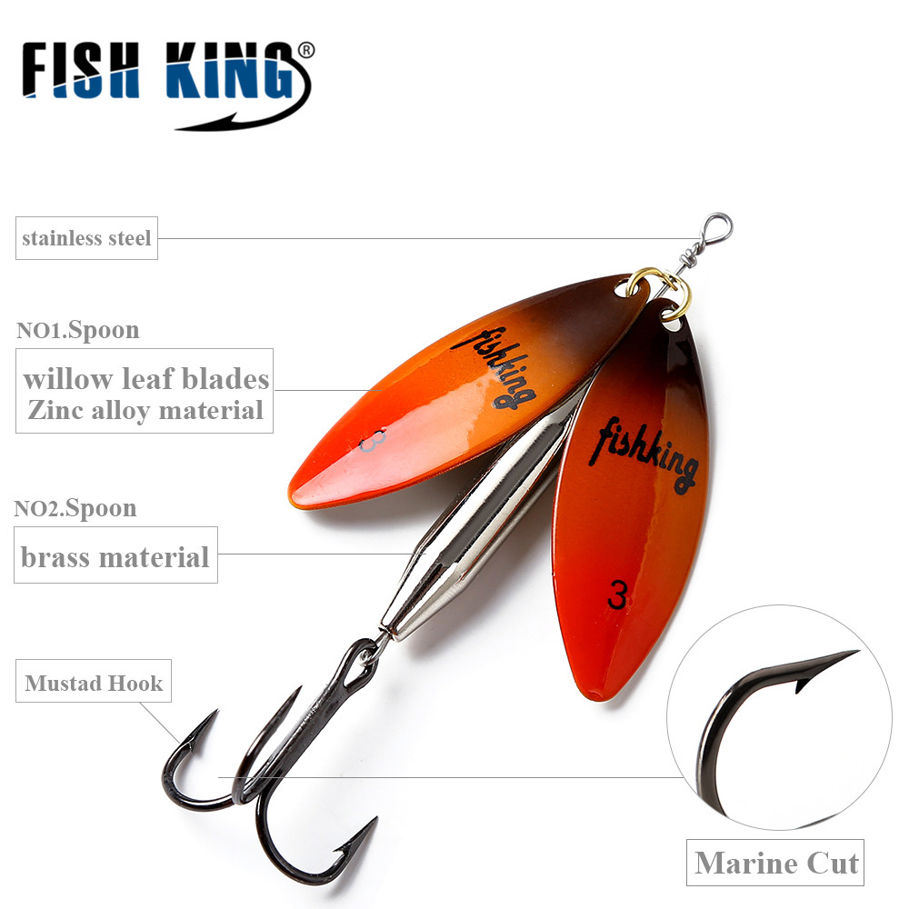 FISH KING Mepps Long Cast deep running spinners Fishing Lure Spinner Bait Fishing Tackle Artificial Hard Fake Fish Metal Lures рыболовный поплавок night fishing king 1012100014 mr 002