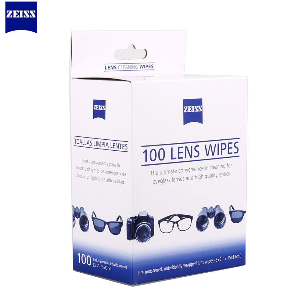 ZEISS 100 pcs Optical Lens Cleaning Wipes Napkins Microscopes Eyeglasses Camera Cleaner