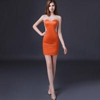 2017 Plus Size Kobiety Lato Sukienki Pomarańczowy Sexy Elegancka Koronka Wieczorne Party Klub Kobiety Plaża Ślubne Czerwone Mini Suknia Dostosowywanie