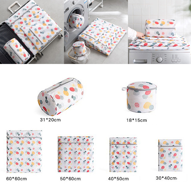 Mesh Laundry Bags For Washing Machine Travel Clothes Storage Net Zip Bag For Wash Bra Stocking And Underwear Laundry Wash Bags