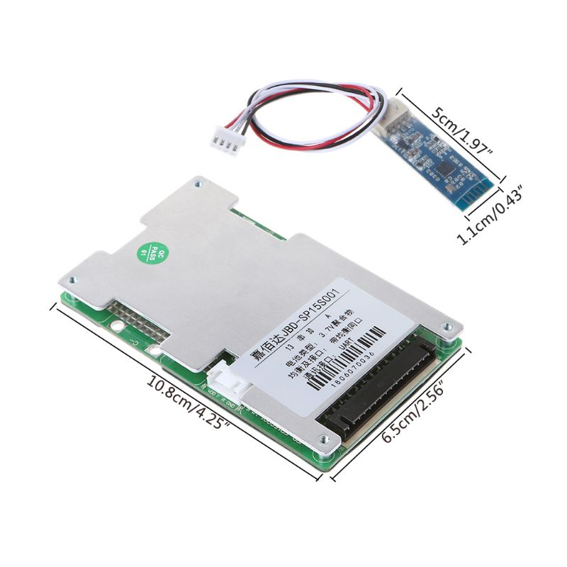 13S Lithium Battery Protective Board BMS 30A Polymer With Bluetooth Smart  Intelligent UART Interface Flexible Static Electric Co