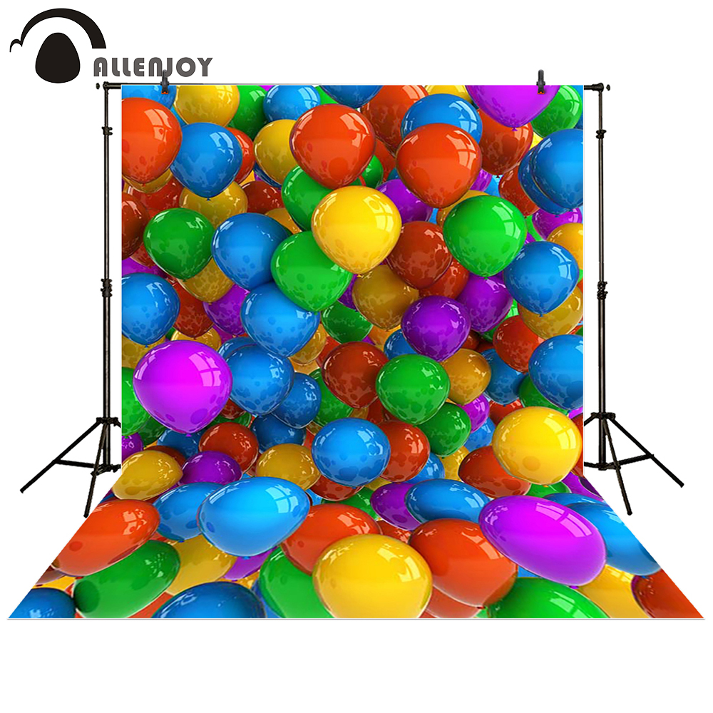 Allenjoy photography backdrop Balloons colorful happy birthday baby shower children background photo studio photocall