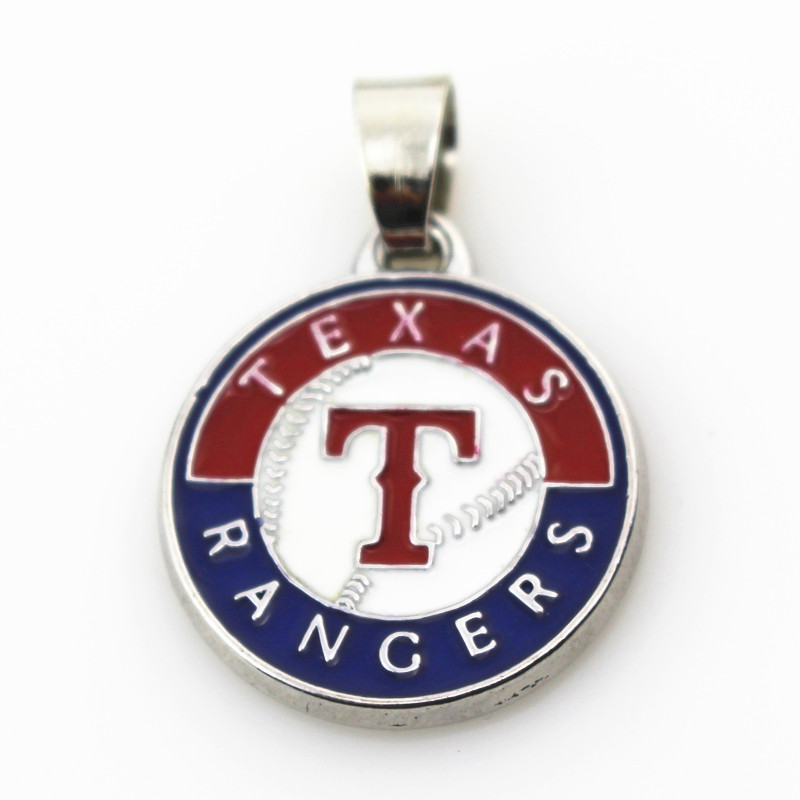 10pcs/lot Texas Rangers baseball team necklace pendant Jewelry with snake chain(45+5cm) sports necklace jewelry