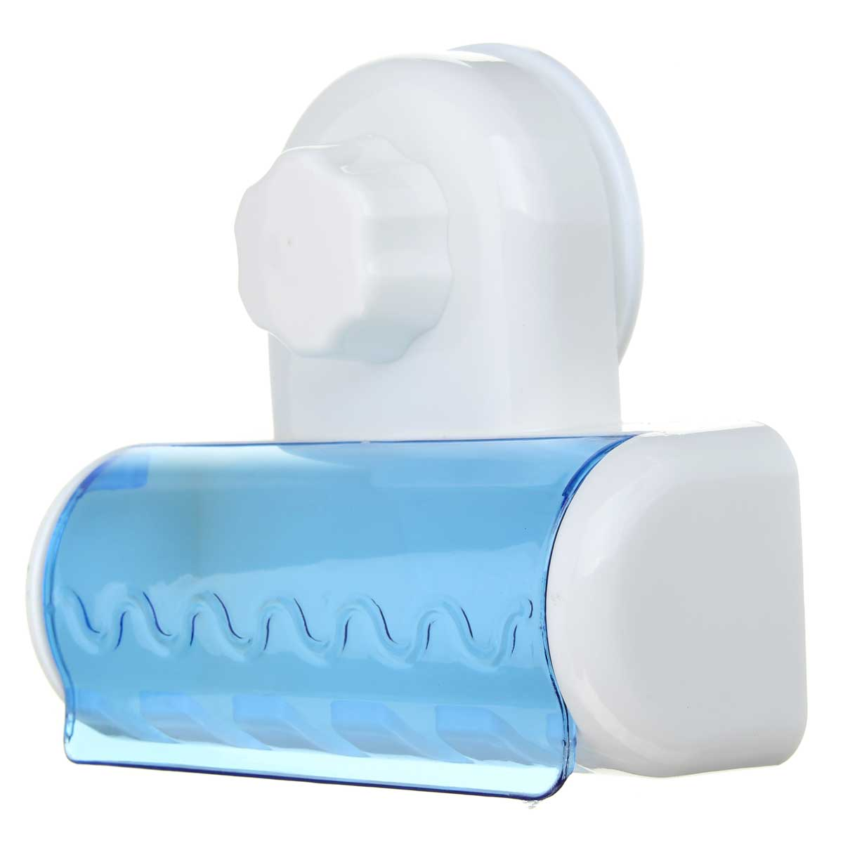 Plastic bathroom sets - 5 Hook Sucker Hanging Toothbrush Clear Strong Wall Fixed Practical Plastic Tooth Brush Holder Home Bathroom