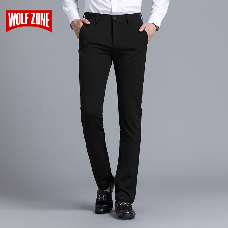 Skinny Real Pants Homme Brand Clothing Business Trousers Mens Casual Slim Fit Dress Spring And Summer Full Length Straight New