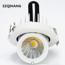 Hot!!! Dimmable LED Trunk Downlight COB Ceiling 20W AC85-265V Adjustable recessed Super Bright Indoor Light cob led downlight