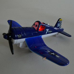 Metal Electric Pixar Planes Model With Light Toys For Children,Mini Airport Express Model Aircraft Toy