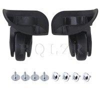 2Pieces BQLZR 3 58 X4 21 X1 93 Bags Luggage Swivel Universal Wheel Black