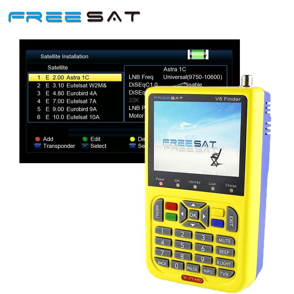 все цены на Freesat Newest Digital Satellite Finder Meter V8 Finder HD DVB-S2 FTA LNB Signal Pointer Satellite TV Receiver Tool For Sat Dish онлайн