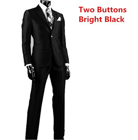 two buttons bright black