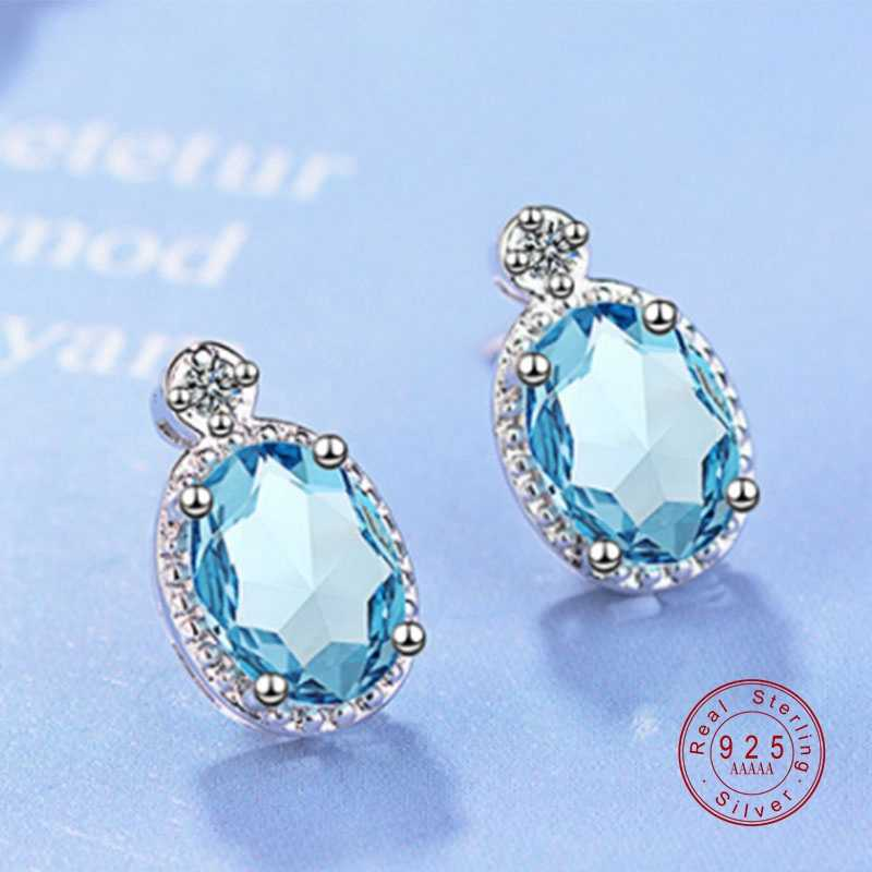 2019 New Top Quality Earrings Women Romantic Real 925 Silver Pure Crystal Cubic Zircon CZ For Woman Girl Jewelry Crystal Gifts