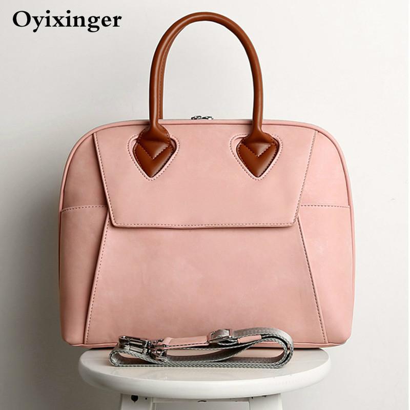 Women Leather Designer Handbags Ladies Laptop Crossbody Bags Female Messenger For Woman Shoulder Girls Pink Bag Office Work Bag