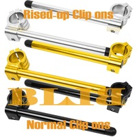 Motorbike Clip Ons Handle Bars 41mm For Kawasaki VN800 A1 A10 Vulcan B1 B9 Vulcan Classic Normal Or Rised up Grips