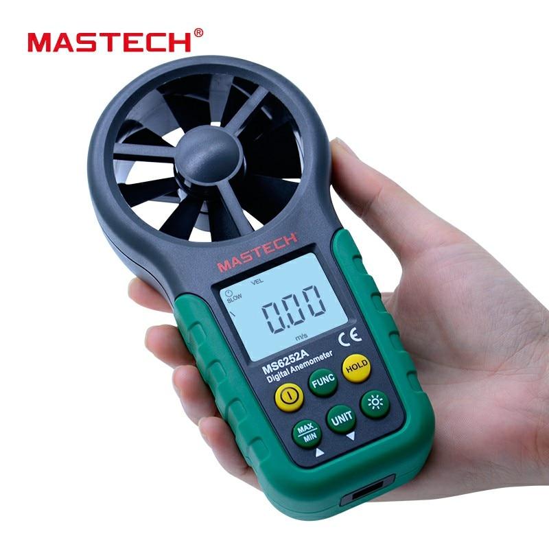 MASTECH MS6252A Wind Speed Test Meter Multifunction Digital Anemometer Tachometer Air Volume