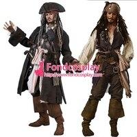 Пиратский Костюм Джека Воробья Джони Деппа Moive cosplay на заказ [G1427]