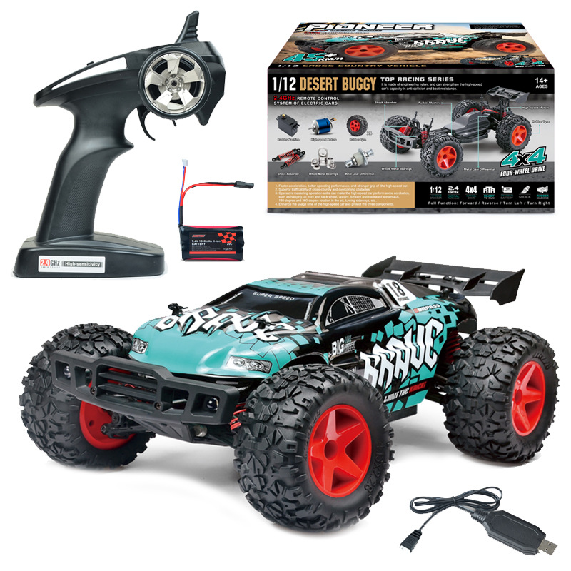Newest Boy adult toy BG1518 1:12 Scale 40-50KM/H Four-Wheel Drive WATERPROOF RC Racing Truggy High Speed Rc drift Car vs 94123