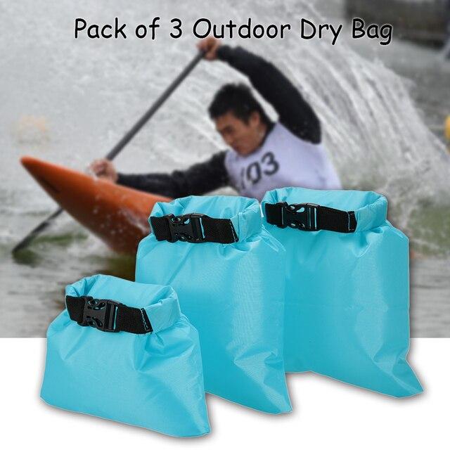 1L+2L+3L Waterproof Dry Bag Pack Sack Swimming Rafting Kayaking River Trekking Floating Sailing Canoing Boating Water Resistance