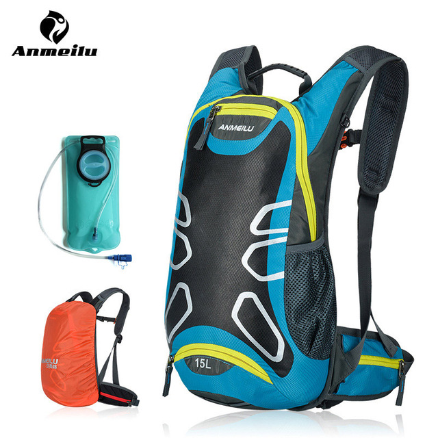 Anmeilu 2l Water Bag 15l Camping Backpack Hydration Bladder Outdoor Sport Climbing Hiking Running Cycling