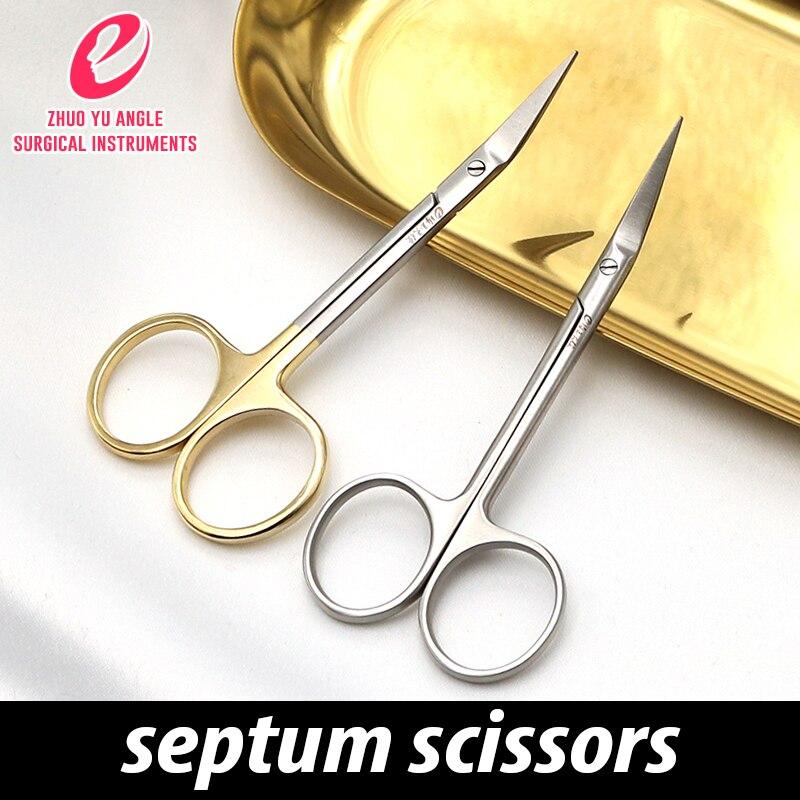 Nasal Plastic Instruments Nasal Septum Scissors Tiangong Stainless Steel Beak Scissors Aesthetic Plastic Frog Beak Scissors