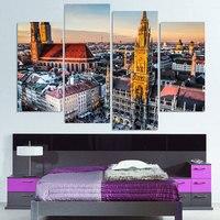 Tela Pittura 4 Pezzo della Tela di canapa di Arte Baviera Baviera Germania HD stampato Home Decor Wall Art Poster Picture for Living Room XA025C