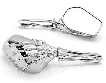 Nuevo espejo de hueso de esqueleto de motocicleta personalizado cromado para Suzuki Savage LS 650