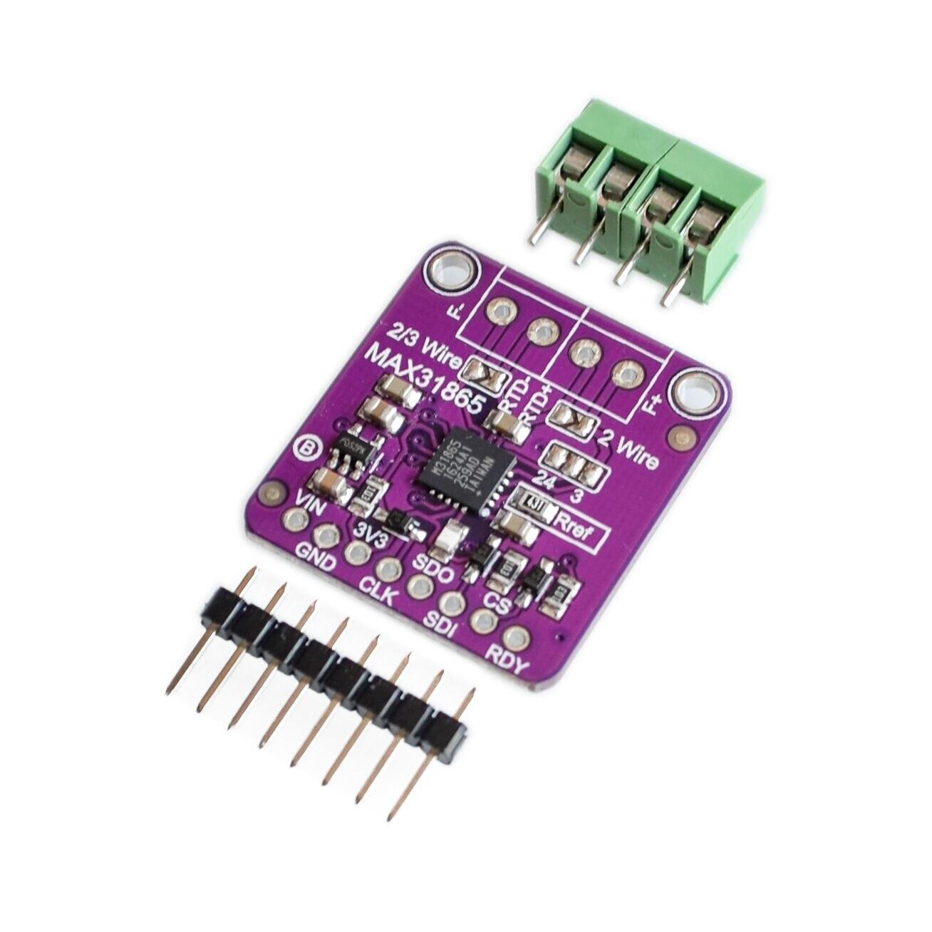 10PCS LOT 31865 MAX31865 RTD platinum resistance temperature detector module PT100 to PT1000