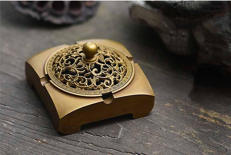 PINNY Antique laiton brûleur d'encens bouddhiste porte-encens odeur enlever métal artisanat salon encensoir parfum de maison