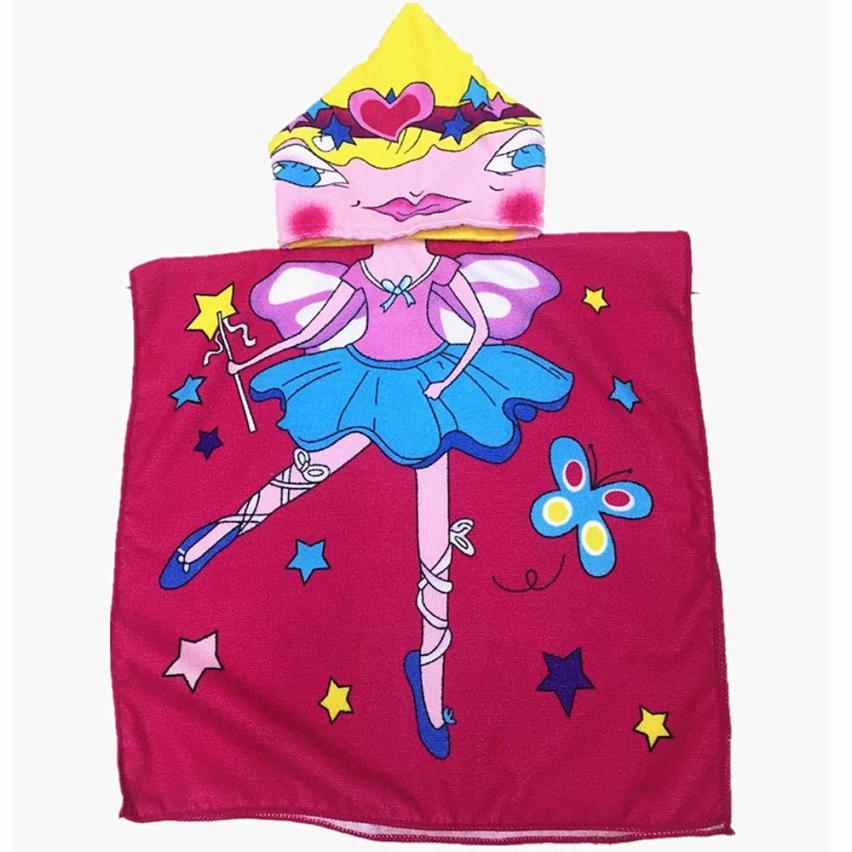 ₪Toalla con capucha para niños Bañeras WRAP poncho de playa con ...
