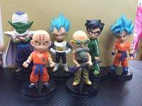 6PCS In Set Anime Dragon Ball Mini Figure Set PVC Qute Dolls