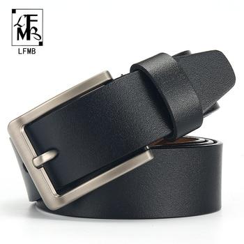 [LFMB]leather belt men Belt for Men Cow genuine leather strap Designer Belts Male ceinture homme High Genuine Leather Belt 1