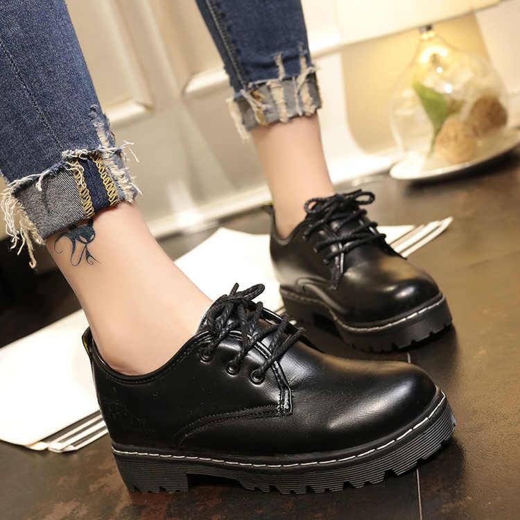 2018 חם חדש סתיו חורף חדש עור נשים שטוח שחור נעליים מחודדת עמוק פה רך תחתון פנאי שטוח נעלי אישה