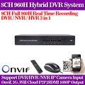 CCTV DVR WIFI 8 Canales ONVIF 8ch H.264 960 h Súper Sistema de Protección de Seguridad DVR 1080 P HDMI DVR de Salida/NVR/HVR Grabador