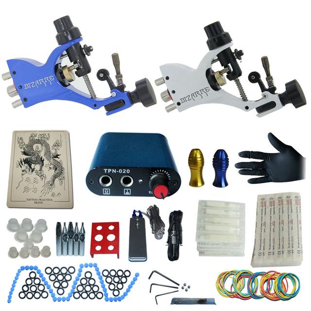 Tatuaje tatuaje completo kit de alimentación + poot pedal + 2 apretones de aleación + accesorios kitB