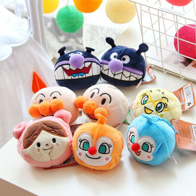 Cute Mini Anpanman Plush Keychain Doll KidsToys Small Pendant Home Decoration Accessories 10cm 8styles Wedding Birthday Gift all characters tracer reaper widowmaker action figure ow game keychain pendant key accessories ltx1