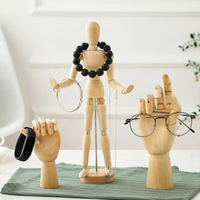 Flexible Wooden Manikin Jointed Doll Model Painting Artist Drawing Sketch Mannequin Home Figurines Miniatures Decor Desktop Toy 1 piece 20 25 30cm wooden hand drawing sketch mannequin model wooden mannequin hand movable limbs human artist model
