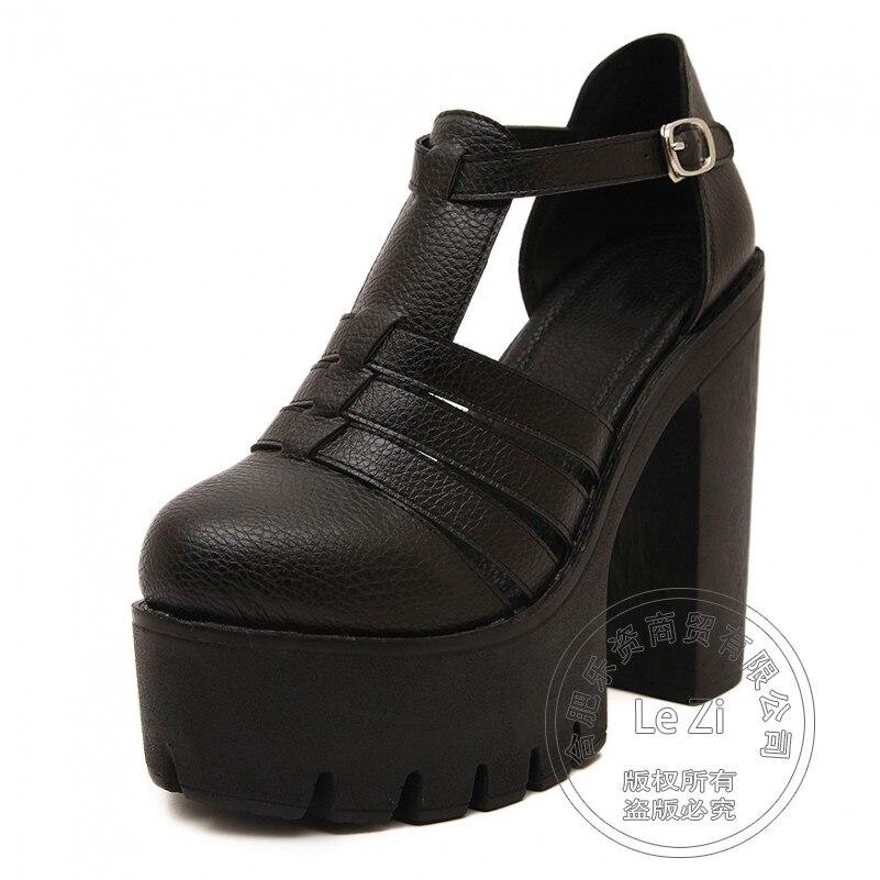 Round Toe Flatform Pu Designer Shoes font b Women b font font b Women b font