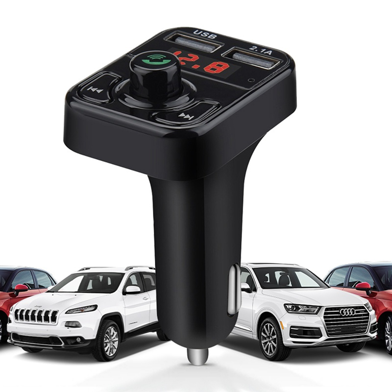 VicTsing Bluetooth MP3 Player FM Transmitter Handsfree Wireless Radio Adapter USB Car Charger 2.1A MP3 Player SD Music Playing   (8)