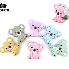 Teething Necklace Bead Koala Pacifier-Holder-Accessories Animal-Shaped Bpa-Free Mini
