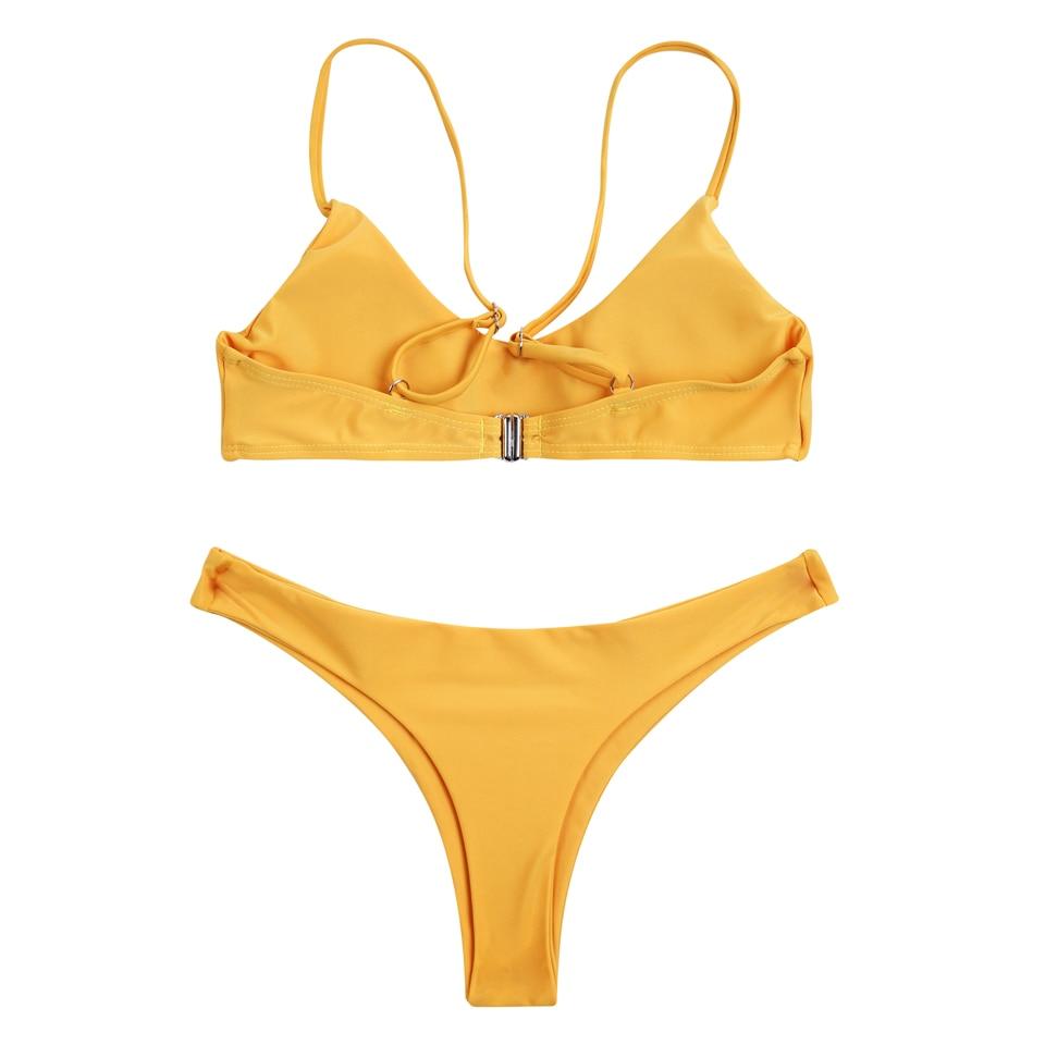 COSPOT Bikini 2019 Sexy Women Swimwear Brazilian Bikini Push Up Swimsuit Solid Beachwear Bathing Suit Thong Biquini Bikini Set